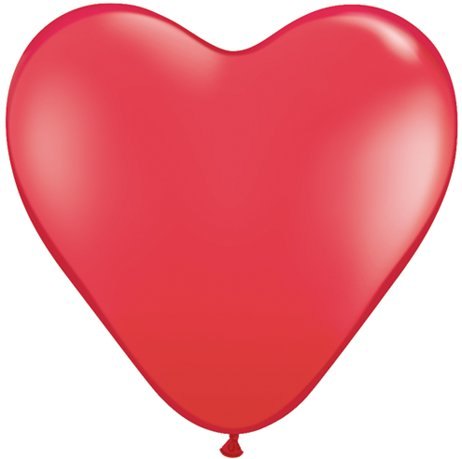Costumes For All Occasions PA34RD Balloon 6In Heart Qualatex Red from America's Suppliers