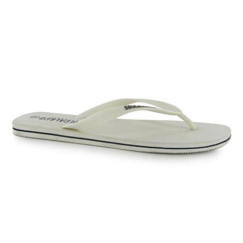 SoulCal Herren Cal Flip Flop Sandalen Zehentrenner Sommer Strand Schuhe Weiß