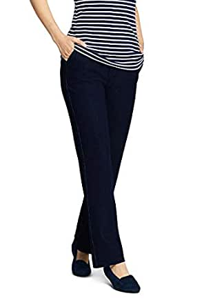 Lands' End Women's Petite Sport Knit Denim High Rise Elastic Waist Pull On Pants - Blue - Large