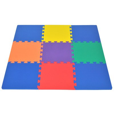 Best Price Wonder Mat Non-Toxic 9 Pieces Extra Thick Foam Playmat for Baby