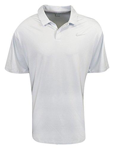 NIKE Dry Control Stripe Men's Golf Polo (Pure Platinum, (Platinum Golf Shirt)
