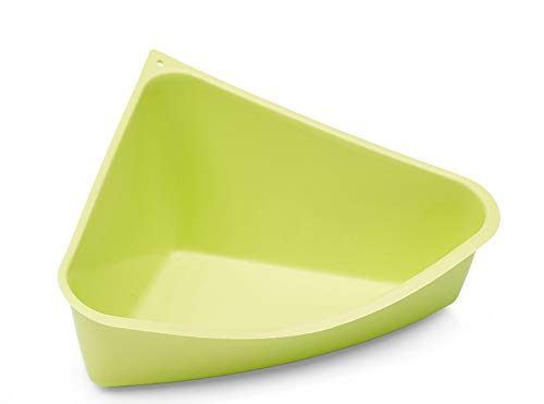 Savic Rody Toilet Corner Littler Pan for Rabbits, Ferrets and Other Small Animals (Green)