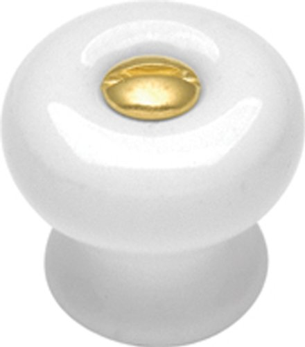 Hickory Hardware P1-W 9/16-Inch English Cozy Cabinet Knob, White (Knobs Mushroom Country White)