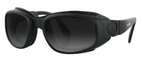Bobster SL3096 Sport and Street Prescription Ready Sunglasses,Black Frame/3 Lenses (Smoked/Amber and Clear),one size