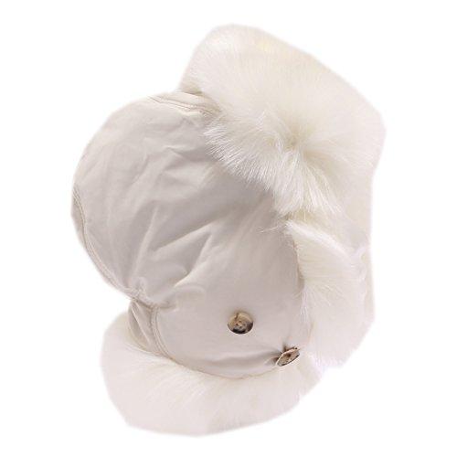 4441u Woolrich Bimba Girl White Hat Cappello Cm s 50 Earmuffs Para Orecchie HdfxwqgdR