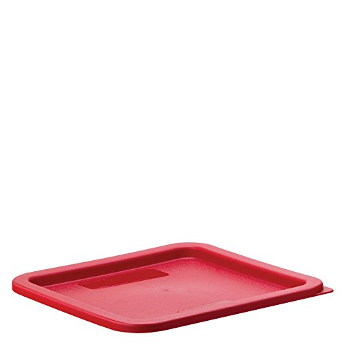 Carlisle 1074105 StorPlus Red Polyethylene Lid For 6-8 Quart Square Containers (Case of 6) by Carlisle