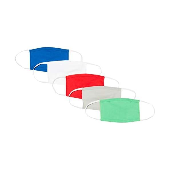 Oscar-Apparels-Kids-Wiederverwendbare-Stoffmaske-100-BCI-Baumwolle-mit-elastischer-Schlaufe-Schwarz-Kinder-5er-Pack