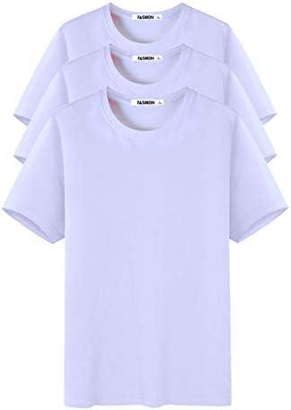 メンズ Tシャツ 半袖 五分袖 100%綿 Tシャツ 3枚組 夏服 ゆったり 吸汗速乾 無地 軽い 柔らかい カットソー Tシャツ 快適 夏季対応