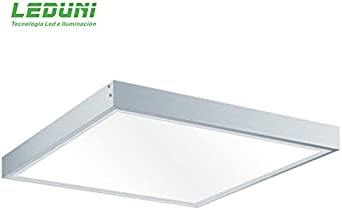 LEDUNI Kit Marco de superficie de Panel 60×60 Blanco Marco Panel LED Empotrable Kit de Superficie Panel 60X60 Marco de Montaje Superficie Borde Blanco