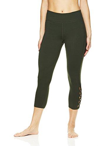 Gaiam Women's Capri Yoga Pants - Performance Spandex Compression Legging - Dufflebag, X-Large by Gaiam (Image #2)