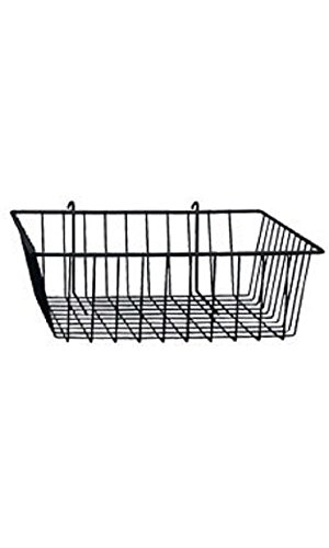12 x 12 x 4 inch Black Mini Wire Grid Basket for Wire Grid by STORE001