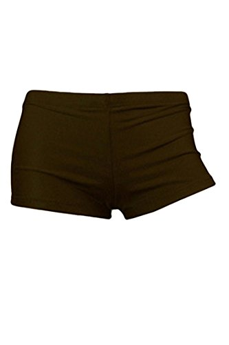 Sovoyant Women's Tummy Control Boyleg Swimsuit Bathing Suit Bottom Coffee 3XL