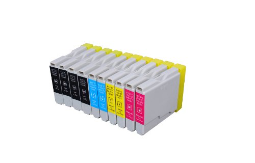Fax 1360 Fax - © Blake Printing Supply 10 Pack 4 Black, 2 Cyan, 2 Magenta, 2 Yellow Ink Cartridges for inkjet printers. Compatible with Brother LC-51 , LC51 DCP-130-C, DCP-135-C, DCP-150-C, DCP-330-C, DCP-350-C, DCP-540-CN, FAX-1355, FAX-1360, FAX-1460, FAX-1560, FAX-1860-C, FAX-1960-C, FAX-2480-C, MFC-230-C, MFC-235-C, MFC-240-C, MFC-240-CN, MFC-260-C, MFC-3360-C, MFC-440-CN, MFC-465-CN, MFC-5460-CN, MFC-5860-CN, MFC-665-CW, MFC-685-CW, MFC-845-CW, MFC-885-CW. LC-51BK , LC-51C LC-51M, LC-51Y