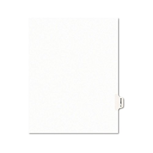 AVE01393-11 x 8 1/2 - AveryLegal Index Divider, Exhibit Alpha Letter, AveryStyle - Pack of 25