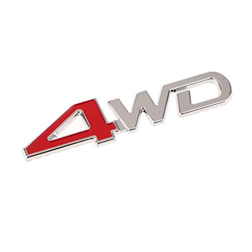 Homyl Universal Car SUV Body Fender Trunk Zinc Alloy 3D ''4WD''Logo Sticker by Homyl (Image #2)