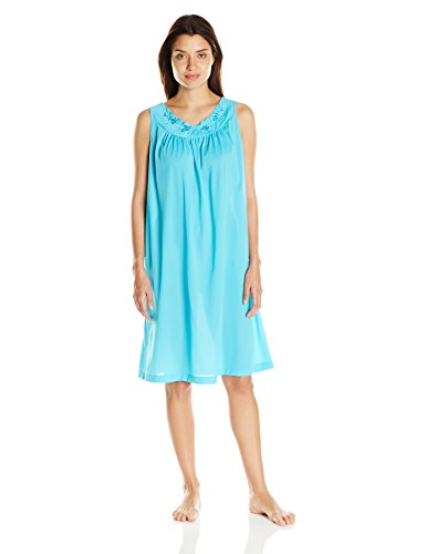 Shadowline Women's Petals 40 Inch Sleeveless Waltz Gown, Turquoise, Large]()