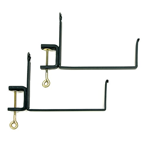 Achla Designs Window Flower Box Clamp-On Brackets, 10 inch, (Outdoor Medium Bracket)