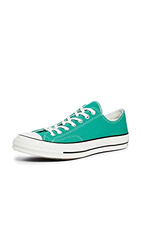 Converse Men's Chuck 70 Washed Canvas Oxfords, Bold Jade, Green, 9 M US