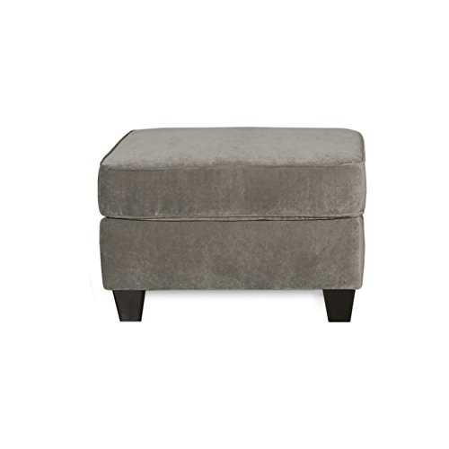 """ExceptionalSheets Fusion Platinum Living Room Ottoman with Upholstered Fabric 
