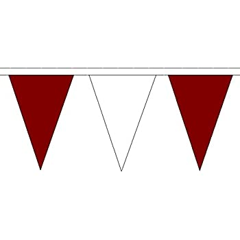 Maroon and Gold Triangle Flag Bunting 54 flags on this 20 metre Long Bunting