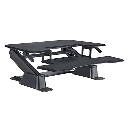 Eureka Ergonomic Standing Desk 36'' Adjustable Stand up Desk Converter Gen 1 - Black