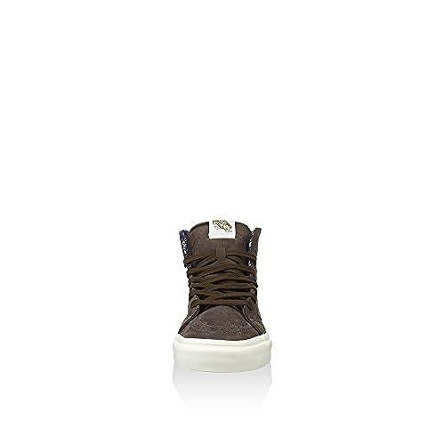 e6c3493eb18 70%OFF Vans SK8 HI ZIP CA Leather Nubuck Cofee Bean Women s Shoes ...