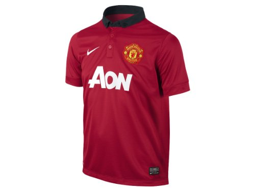 Nike Manchester United BOYS SHORT SLEEVE HOME REPLICA JERSEY (DIABLO RED) (XS) ()