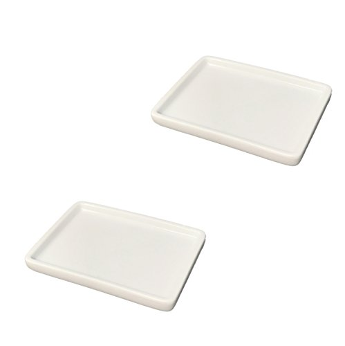 Tetra-Teknica Less is More Series SD-2P Porcelain Soap Dish, Color White, 2 per ()