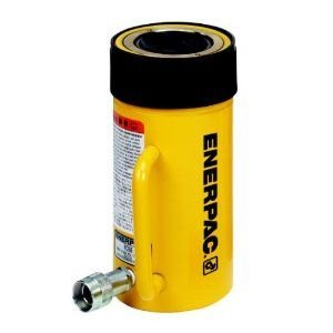 Enerpac RC-506 Single-Acting Alloy Steel Hydraulic Cylinder with 50 Ton Capacity, Single Port, 6.25'' Stroke