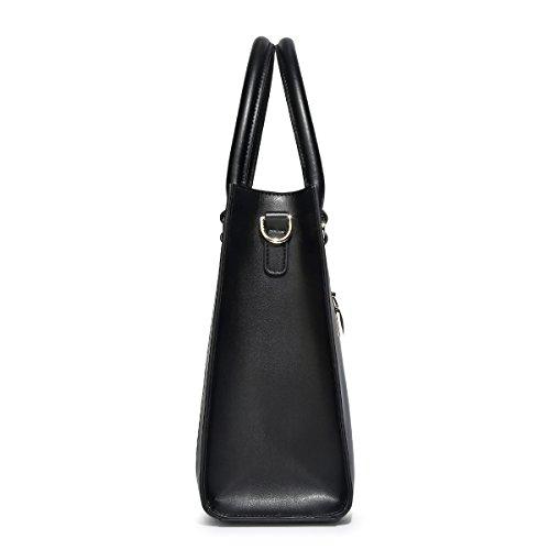 Kadell Frauen Handtaschen Leder Schultertasche Elegante Business Damen Taschen Hellrosa Schwarz eXLwPavx