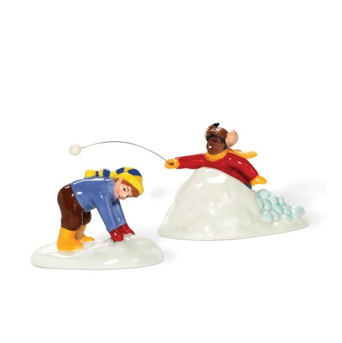 Department 56 Snow Village Unfair Advantage Accessory Figurine (Set of 2) (Villages 56 Village Snow Accessories)