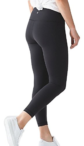 Lululemon High Times Pant Full On Luon 7/8 Yoga Pants (Black, 2)