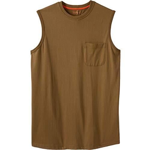 - Boulder Creek Men's Big & Tall Heavyweight Pocket Muscle Tee, Boulder Brown Tall-XL