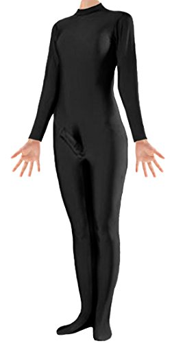 [Marvoll Unisex Lycra Spandex Zentai Unitard Penis Costume for Kids and Adults (XX-Large, Black)] (Holloween Costumes Designs)
