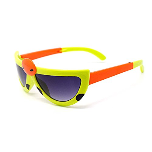 Ultra 3 x Pairs of Green Coloured Childrens Kids Boys Girls Stylish transforming cute ladybird Style - Bans To Ray Buy Where