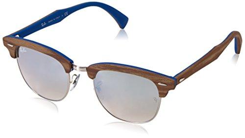 Ray-Ban Men's Clubmaster (m) Non-Polarized Iridium Square Sunglasses, Silver, 51 - Hut Clubmaster Sunglass Ban Ray