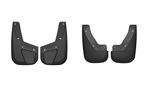 HUSKYLINERS 56731/57781 Front and Rear Mud Gaurds for Cadillac Escalade/Chevrolet Avalanche/Suburban/Tahoe & GMC Yukon