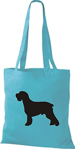 a Messenger Bag Natural Blue Fabric Animals of Schnauzer Range in Cotton Available sky Dog Zoo Colours Bag Bags 7qHC8qw