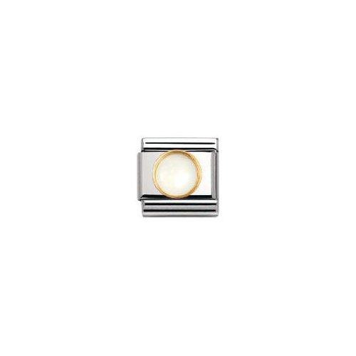 Nomination - 030503 - Maillon pour bracelet composable Mixte - Acier inoxydable et Or jaune 18 cts
