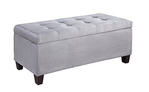 Linon Home Decor Products Carmen Shoe Storage Ottoman, Multi
