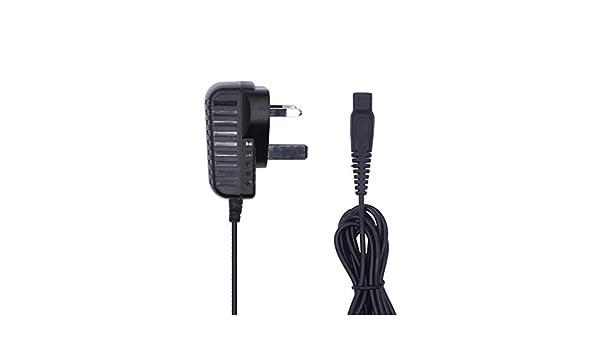 webla Adaptado para Adaptador de Cargador de Afeitar Philips británico estándar 15 V 0.36 A Adaptador de cordón de ...