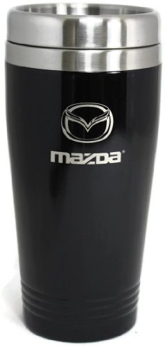 Mazda Travel Mug Travel Coffee Mug Cup Stainless Steel Tea Mug Thermo - Black