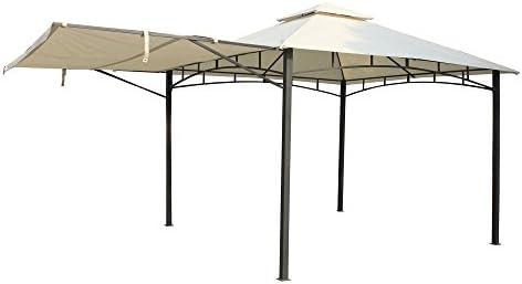 Elegantemente Simple Gazebo con fijación especial para toldos de Metal y tela toldo en color crudo - ideal para cubrir cualquier otra ocasión por eCommerce Excellence: Amazon.es: Jardín