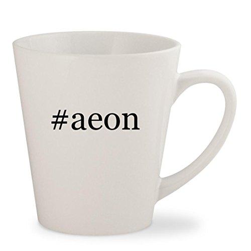 Aeon Flux Movie Costume (#aeon - White Hashtag 12oz Ceramic Latte Mug Cup)