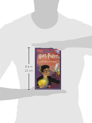 Harry Potter y el cáliz de fuego es la cuarta entrega de la serie fantástica de la autora británica J.K. Rowling. «Habrá tres pruebas, espaciadas en el curso escolar, que medirán a los campeones en muchos aspectos diferentes: sus habilidades mágicas, su osadía, sus dotes de deducción y, por supuesto, su capacidad para sortear el peligro.» Se va a celebrar en Hogwarts el Torneo de los Tres Magos. Sólo los alumnos mayores de diecisiete años pueden participar en esta competición, pero, aun así, Harry sueña con ganarla. En Halloween, cuando el cáliz de fuego elige a los campeones, Harry se lleva una sorpresa al ver que su nombre es uno de los escogidos por el cáliz mágico. Durante el torneo deberá enfrentarse a desafíos mortales, dragones y magos tenebrosos, pero con la ayuda de Ron y Hermione, sus mejores amigos, ¡quizá logre salir con vida!