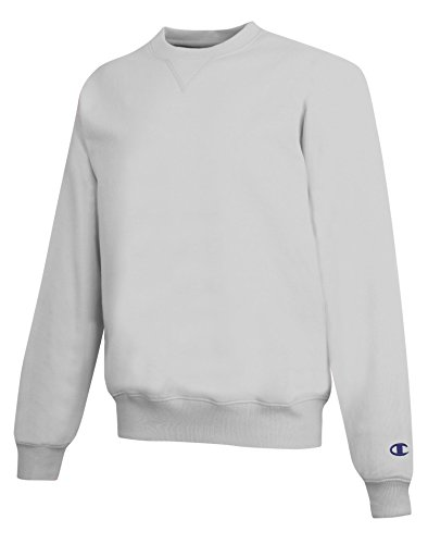 (Champion Men's Athletic 2x1 Ribbed Sweatshirt, X-Large, Silver Gray)