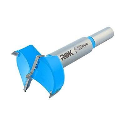Rok Hardware 35mm Hinge Boring Forstner Drill Bit, Blue ROKBB35BLUE