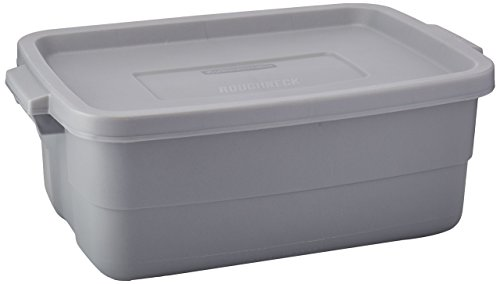 Roughneck Storage Tote (Rubbermaid Roughneck Tote Storage Container, Steel, 10-gallon (1841371))