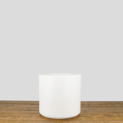 Indoor Flower Pot | Large Modern Planter, Terracotta Ceramic Plant Pot - Plant Container Great for Plant Stands (10.5 inch, White) by Peach & Pebble (Image #1)