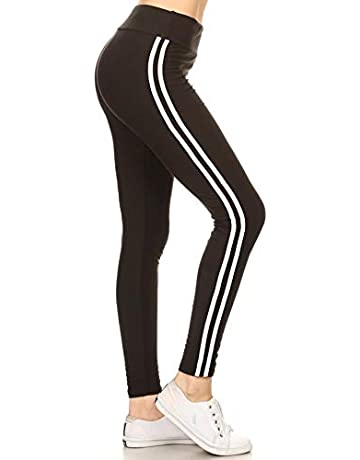 f5e7d3dc2336f Leggings Depot High Waist Double Lined Solid Yoga Leggings